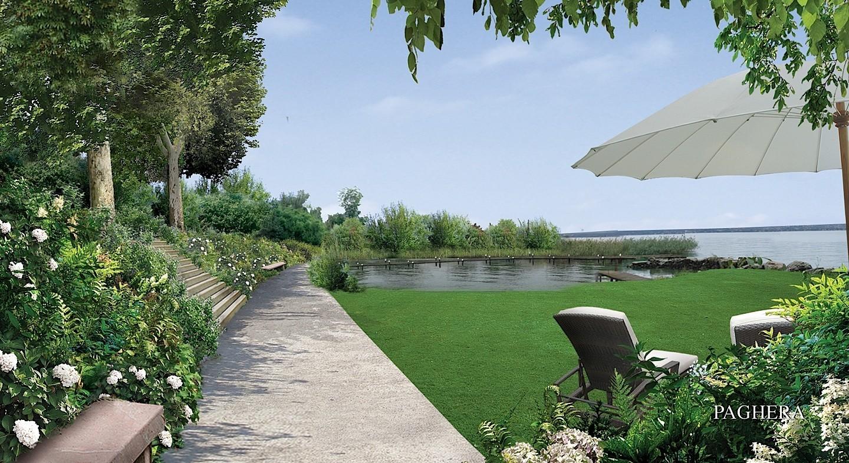 جو ساحر مستوحى من بحيرة جنيڤ - الحدائق