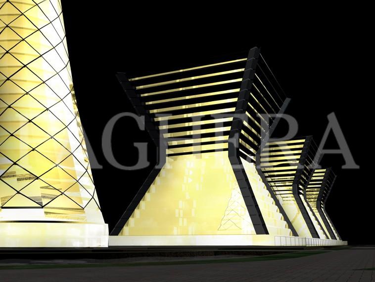 المركز الإداري - مفهوم المعماري