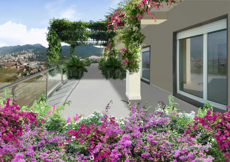 Una terrazza ricoperta di vegetazione - Terrazze