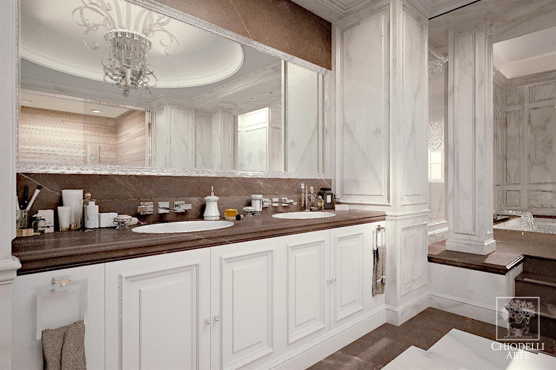 A refreshing alabaster bathroom - طراحی داخلی