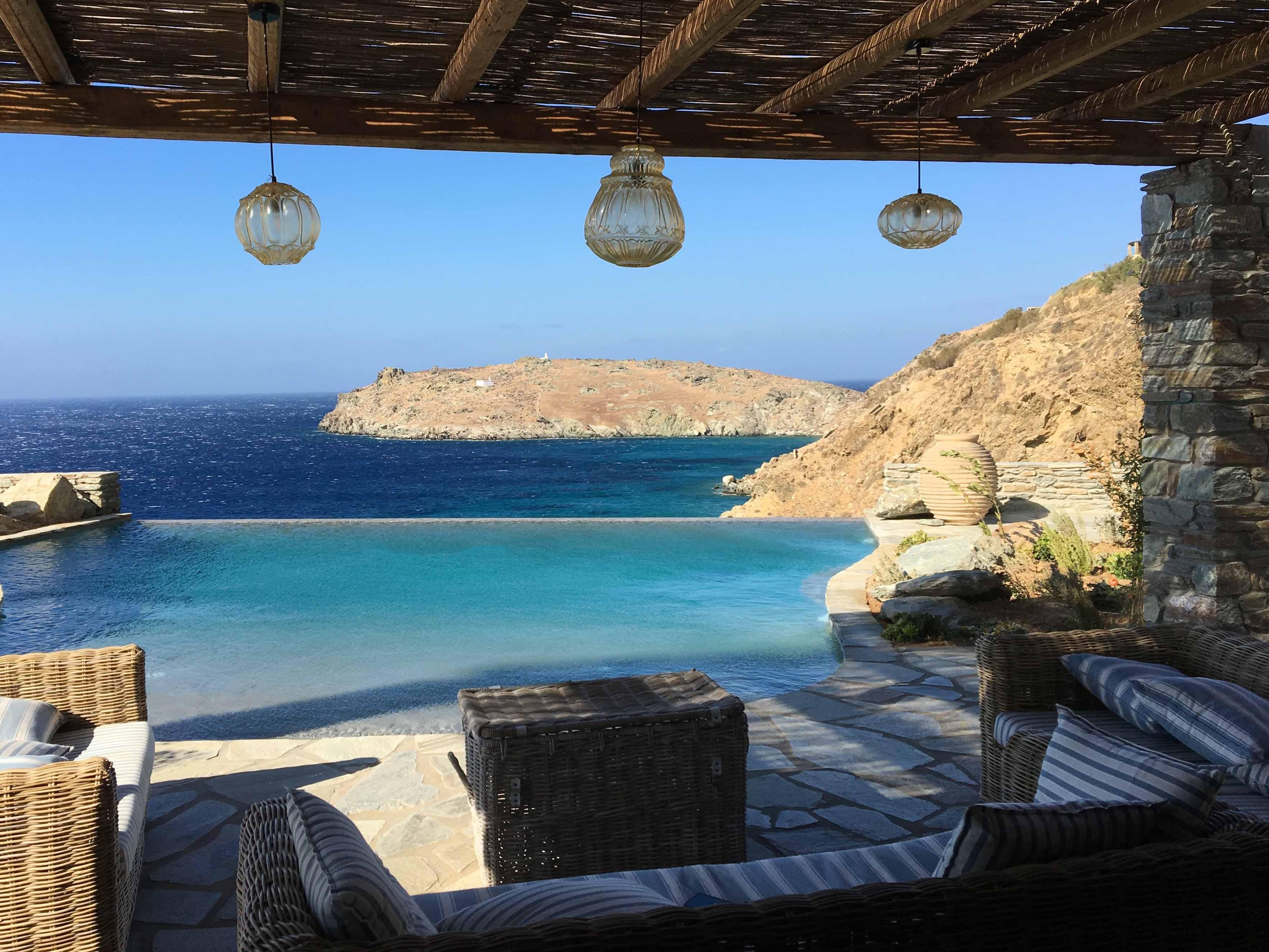 Splendid panorama among the Hellenic cliffs - استخر های شنا