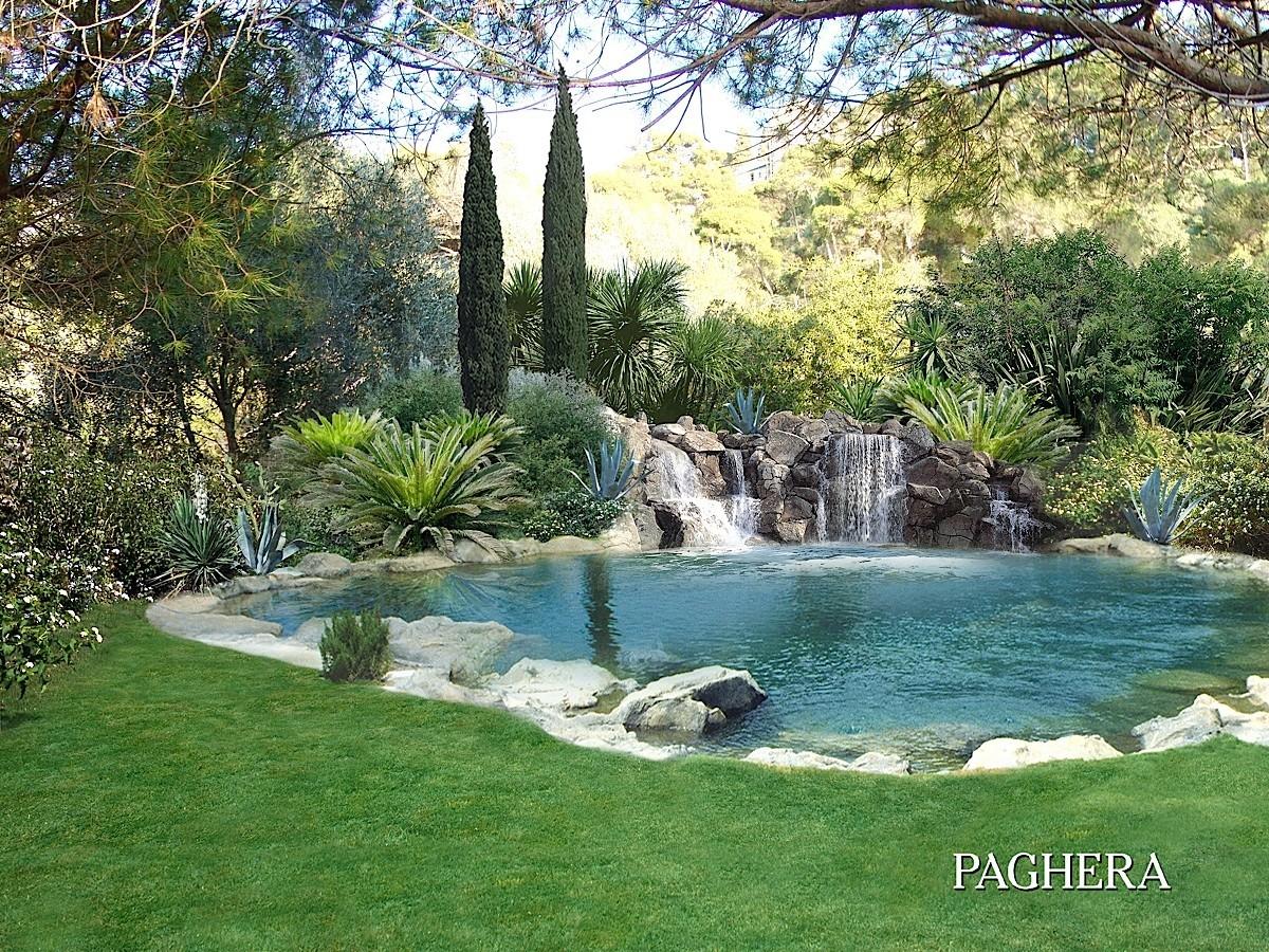 A private paradise in Cap Ferrat - باغ ها