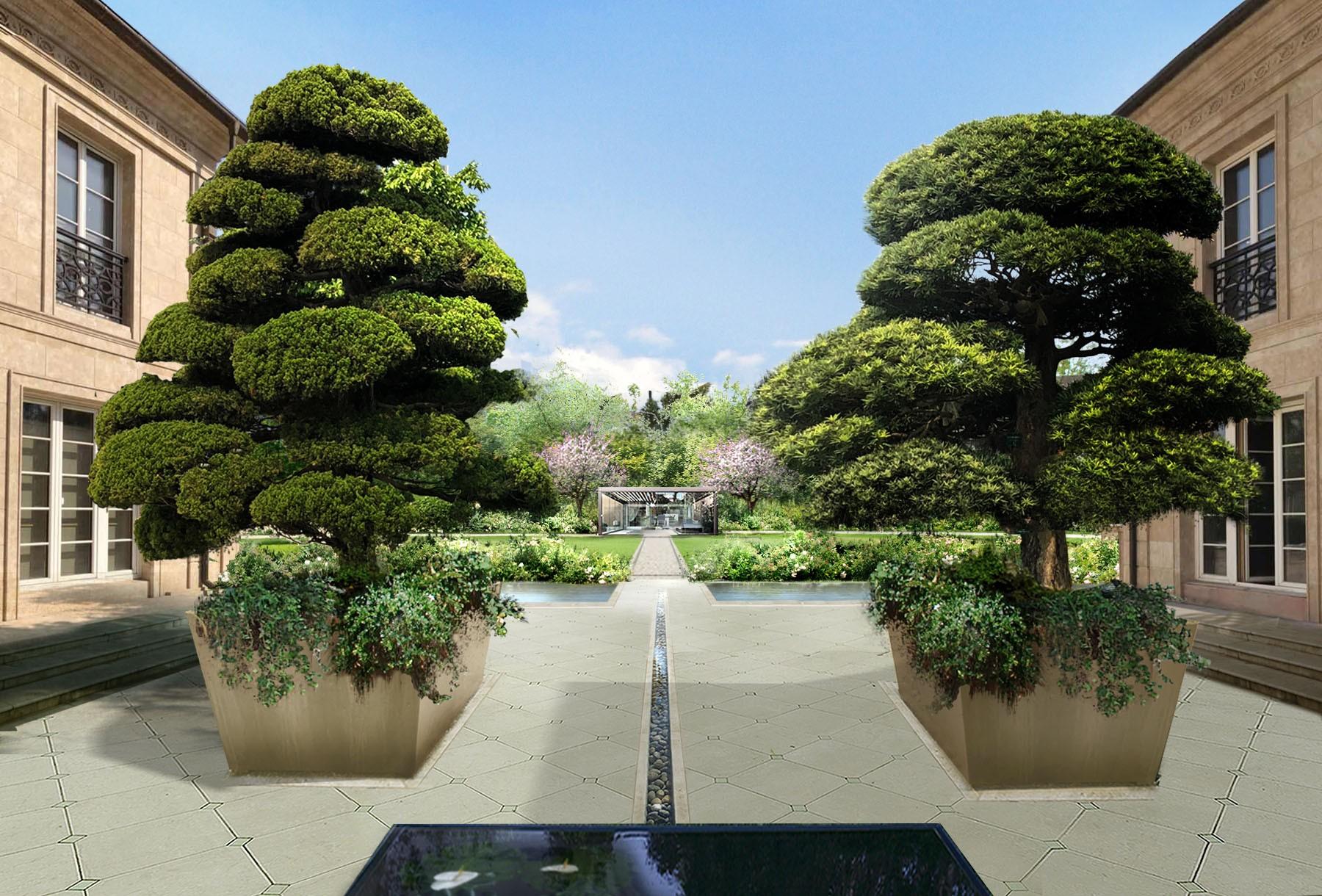 Twin villas - Gardens